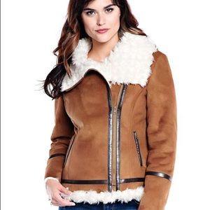 NWOT Fabulous Furs Suede Moto Jacket